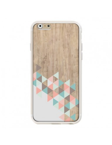 Coque iPhone 6 et 6S Wood Bois Azteque Triangles Archiwoo - Pura Vida