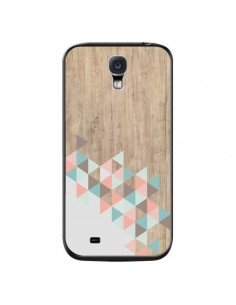 Coque Wood Bois Azteque Triangles Archiwoo pour Samsung Galaxy S4 - Pura Vida