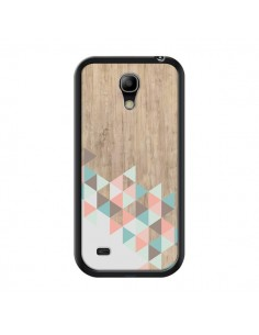 Coque Wood Bois Azteque Triangles Archiwoo pour Samsung Galaxy S4 Mini - Pura Vida