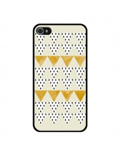 Coque Triangles Or Garland Gold pour iPhone 4 et 4S - Pura Vida