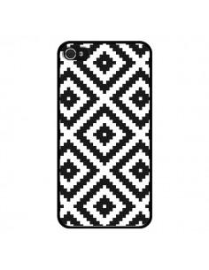 Coque iPhone 4 et 4S Diamond Chevron Black and White - Pura Vida