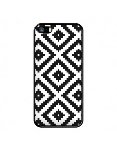 Coque Diamond Chevron Black and White pour iPhone 5/5S et SE - Pura Vida
