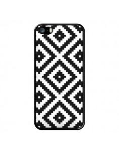 Coque iPhone 5/5S et SE Diamond Chevron Black and White - Pura Vida