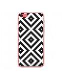 Coque iPhone 5C Diamond Chevron Black and White - Pura Vida