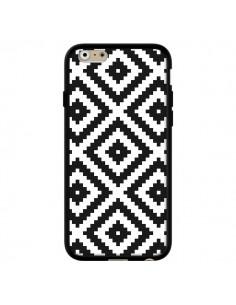 Coque iPhone 6 et 6S Diamond Chevron Black and White - Pura Vida