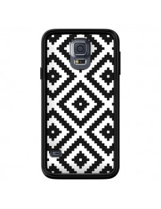 Coque Diamond Chevron Black and White pour Samsung Galaxy S5 - Pura Vida