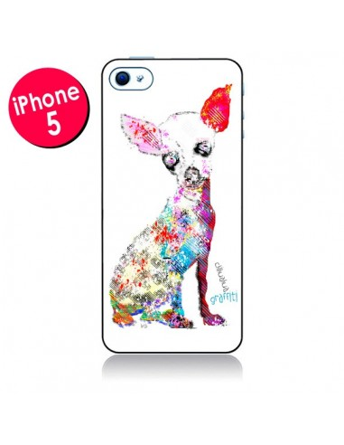 Coque Chien Chihuahua Graffiti pour iPhone 5