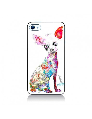 Coque Chien Chihuahua Graffiti pour iPhone 4 et 4S