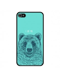 Coque iPhone 4 et 4S Bear Ours I like You - Rachel Caldwell