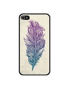 Coque iPhone 4 et 4S Feather Plume Arc En Ciel - Rachel Caldwell