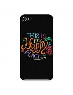 Coque iPhone 4 et 4S This is my Happy Place - Rachel Caldwell