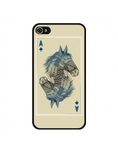 Coque iPhone 4 et 4S Cheval Carte Jeu Horse As - Rachel Caldwell