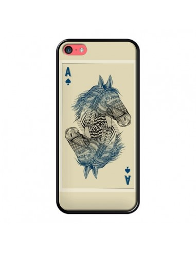 coque iphone 5c cheval carte jeu horse as rachel caldwell