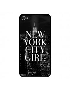 Coque iPhone 4 et 4S New York City Girl - Rex Lambo