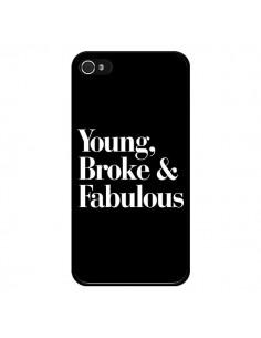 Coque iPhone 4 et 4S Young, Broke & Fabulous - Rex Lambo