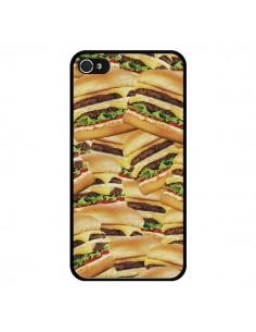 Coque iPhone 4 et 4S Burger Hamburger Cheeseburger - Rex Lambo