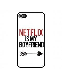 Coque iPhone 4 et 4S Netflix is my Boyfriend - Rex Lambo