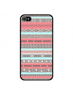 Coque iPhone 4 et 4S Azteque Aztec Rose Pastel - Rex Lambo