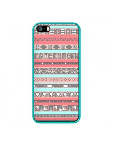 Coque iPhone 5/5S et SE Azteque Aztec Rose Pastel - Rex Lambo