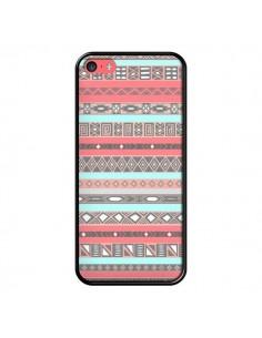 Coque Azteque Aztec Rose Pastel pour iPhone 5C - Rex Lambo
