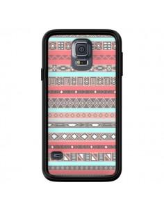 Coque Azteque Aztec Rose Pastel pour Samsung Galaxy S5 - Rex Lambo
