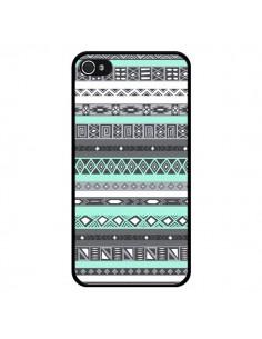 Coque Azteque Aztec Bleu Pastel pour iPhone 4 et 4S - Rex Lambo