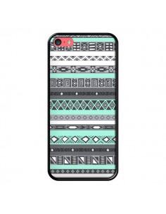 Coque iPhone 5C Azteque Aztec Bleu Pastel - Rex Lambo