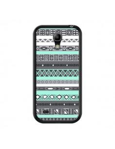 Coque Azteque Aztec Bleu Pastel pour Samsung Galaxy S4 Mini - Rex Lambo