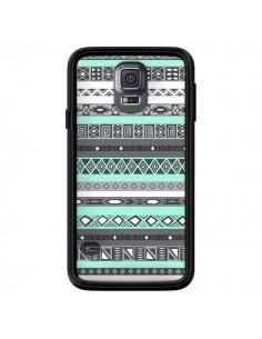 Coque Azteque Aztec Bleu Pastel pour Samsung Galaxy S5 - Rex Lambo