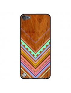 Coque Azteque Arbutus Pastel Bois Aztec Tribal pour iPod Touch 5 - Jenny Mhairi