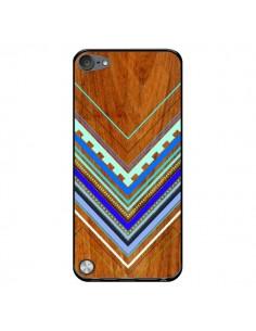 Coque Azteque Arbutus Blue Bois Aztec Tribal pour iPod Touch 5 - Jenny Mhairi