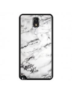 Coque Marbre Marble Blanc White pour Samsung Galaxy Note III - Laetitia