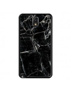 Coque Marbre Marble Noir Black pour Samsung Galaxy Note III - Laetitia