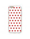 Coque Coeurs Rouges Fond Blanc pour iPhone 6 et 6S - Laetitia