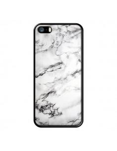 Coque iPhone 5/5S et SE Marbre Marble Blanc White - Laetitia
