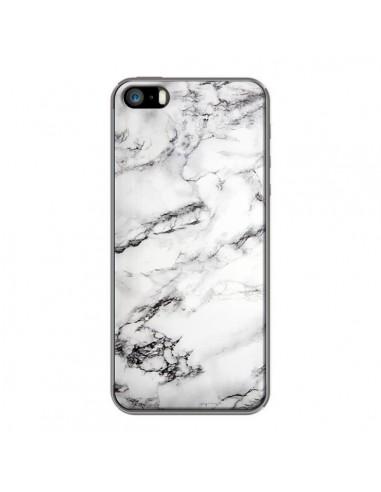 coque iphone 5 5s se marbre marble blanc white laetitia