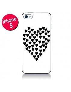 Coque Coeur en coeurs noirs pour iPhone 5