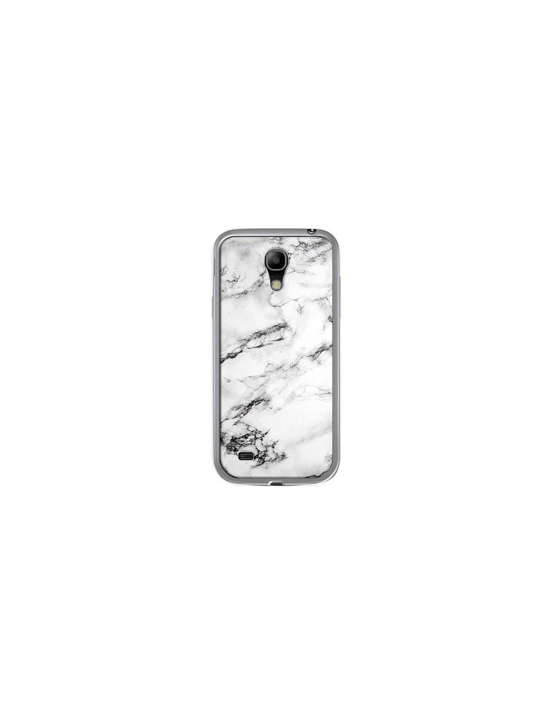coque samsung a40 marbre blanc