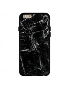 Coque Marbre Marble Noir Black pour iPhone 6 et 6S - Laetitia