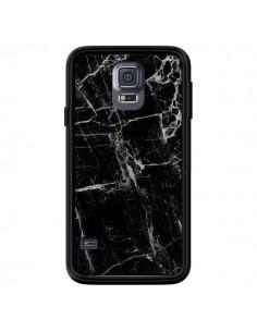 Coque Marbre Marble Noir Black pour Samsung Galaxy S5 - Laetitia
