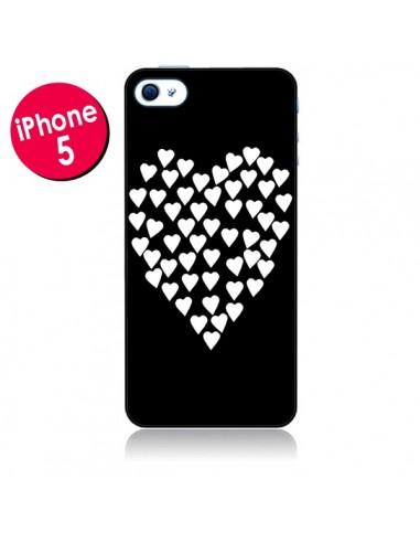 Coque Coeur en coeurs blancs pour iPhone 5