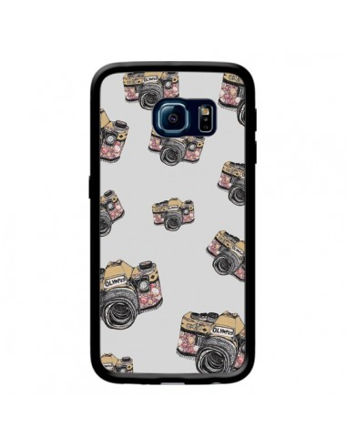 Coque Appareil photo vintage Rose pour Samsung Galaxy S6 Edge - Laetitia