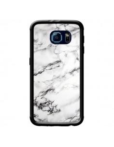 Coque Marbre Marble Blanc White pour Samsung Galaxy S6 - Laetitia