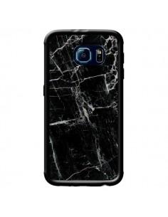Coque Marbre Marble Noir Black pour Samsung Galaxy S6 - Laetitia