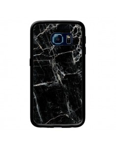 Coque Marbre Marble Noir Black pour Samsung Galaxy S6 Edge - Laetitia
