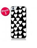 Coque Coeur Blanc pour iPhone 5