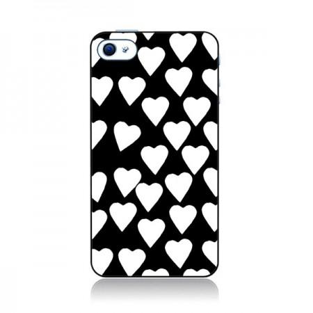 Coque Coeur Blanc pour iPhone 4 et 4S