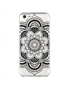 Coque iPhone 5C Mandala Noir Azteque Transparente - Nico