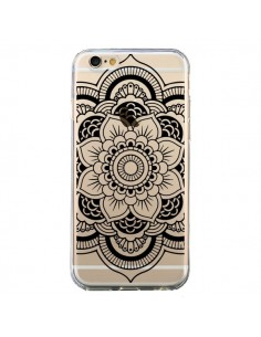 Coque iPhone 6 et 6S Mandala Noir Azteque Transparente - Nico