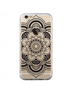 Coque Mandala Noir Azteque Transparente pour iPhone 6 et 6S - Nico